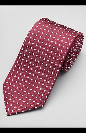 Men's Accessories, Traveler Collection Polka Dot Tie - Jos A Bank