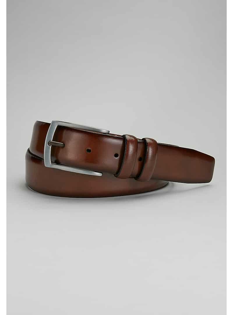 Jos. A. Bank Brown Leather Dress Belt #8TM4