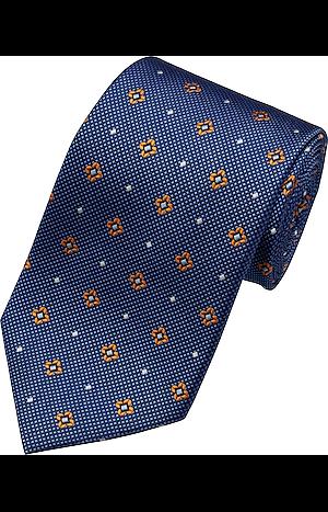 Men's Accessories, Traveler Collection Small Medallion & Dot Tie - Jos A Bank